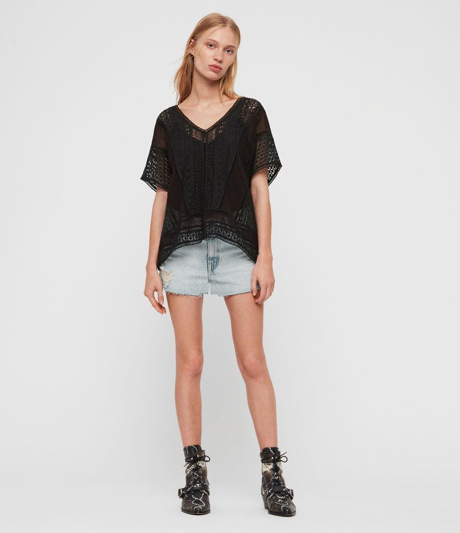 Womens Cindi Lace Top (black) - Image 2