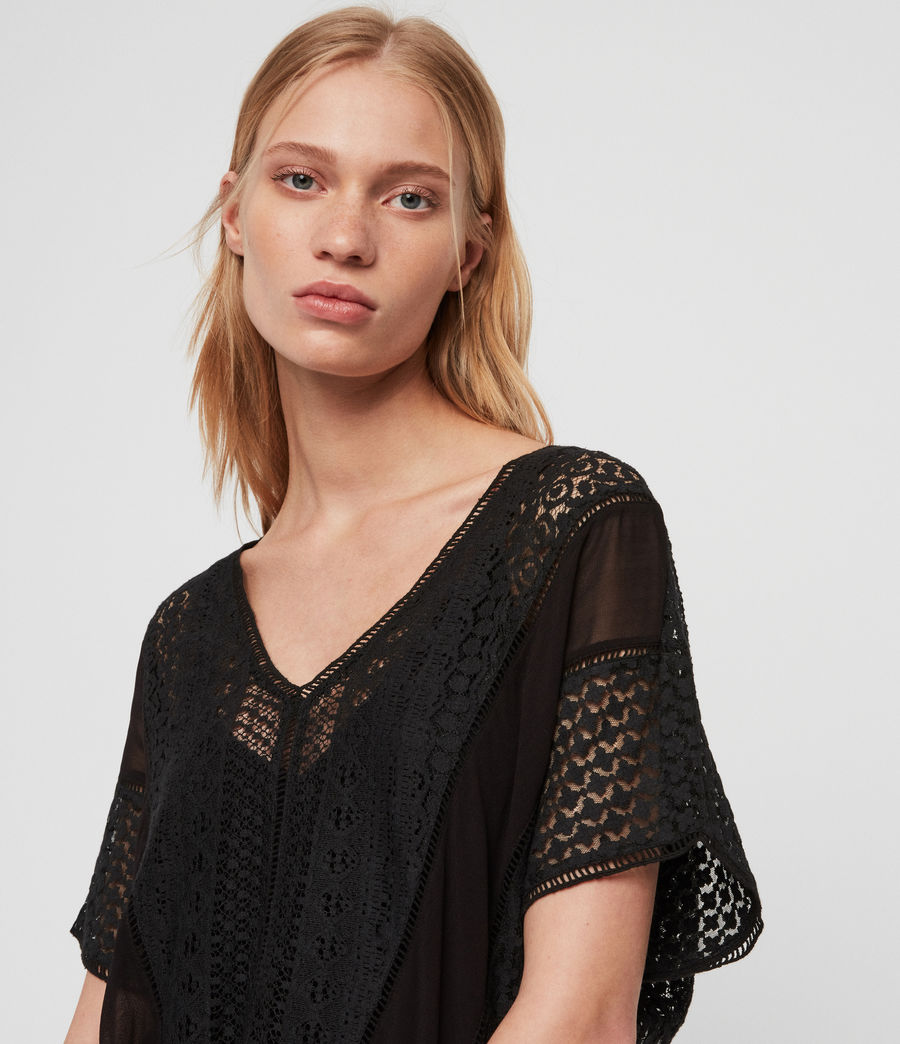 Womens Cindi Lace Top (oyster_white) - Image 3