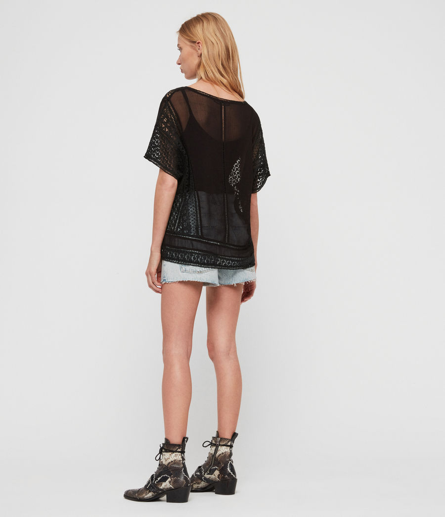 Womens Cindi Lace Top (oyster_white) - Image 5