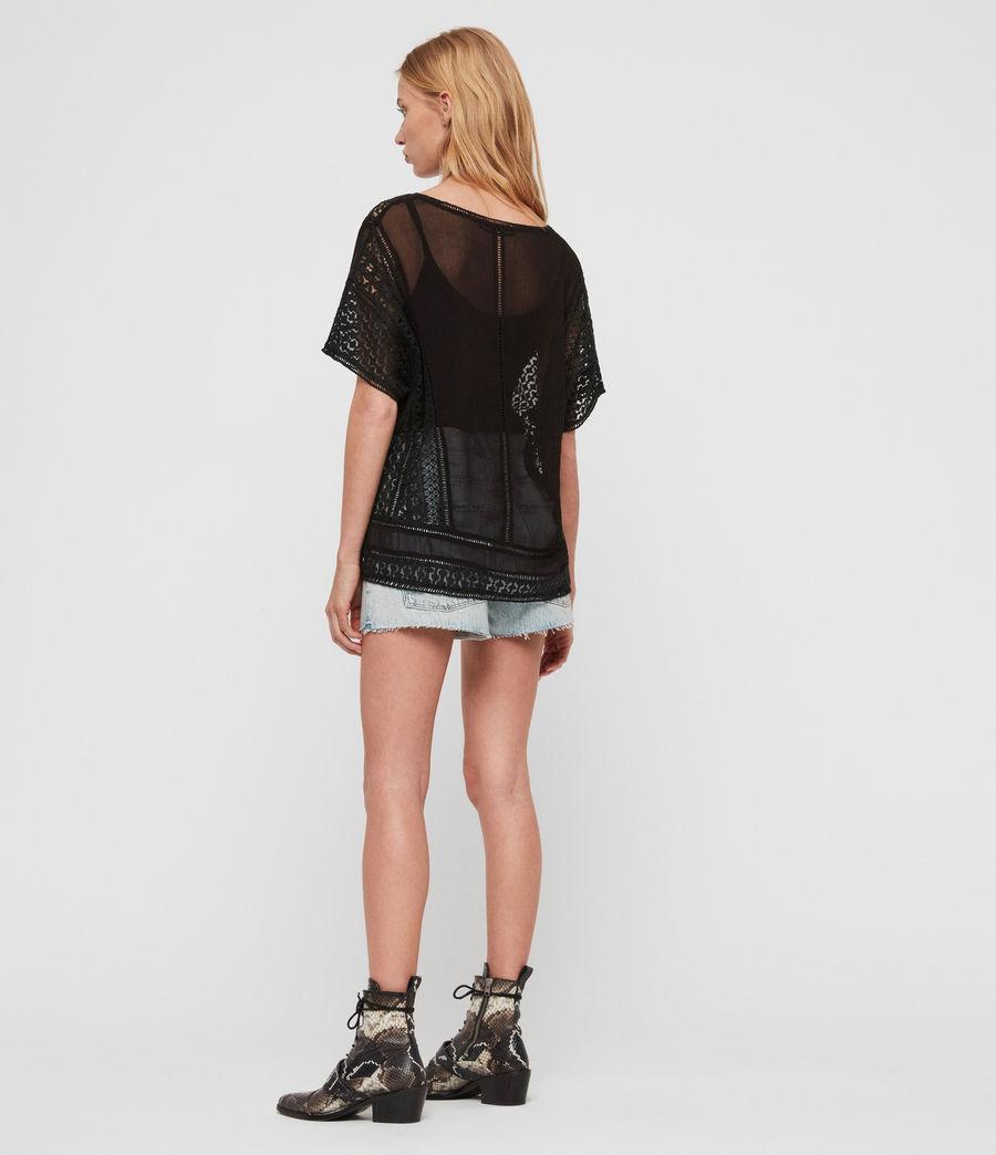 Womens Cindi Lace Top (black) - Image 5
