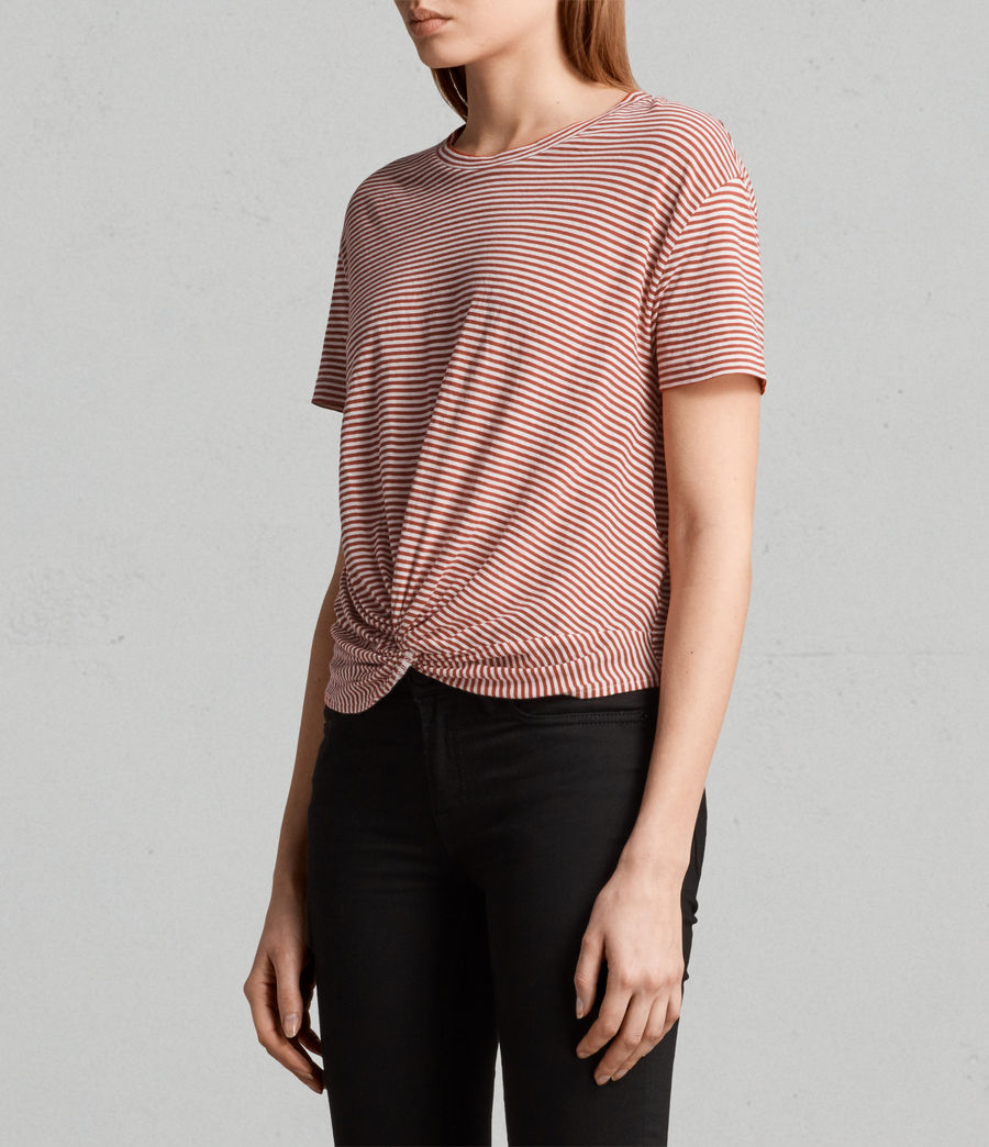 Womens Carme Stripe Tee (poppy_red_oyster) - Image 3
