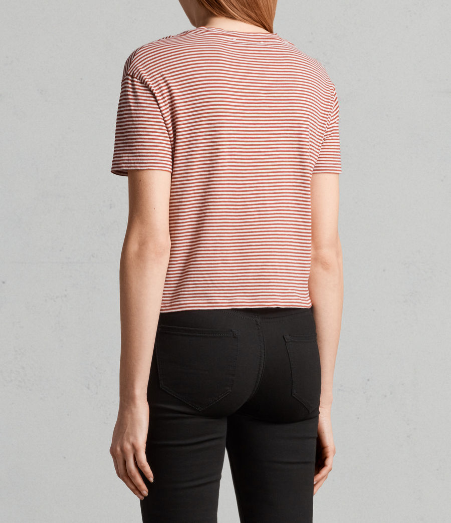 Womens Carme Stripe Tee (poppy_red_oyster) - Image 4