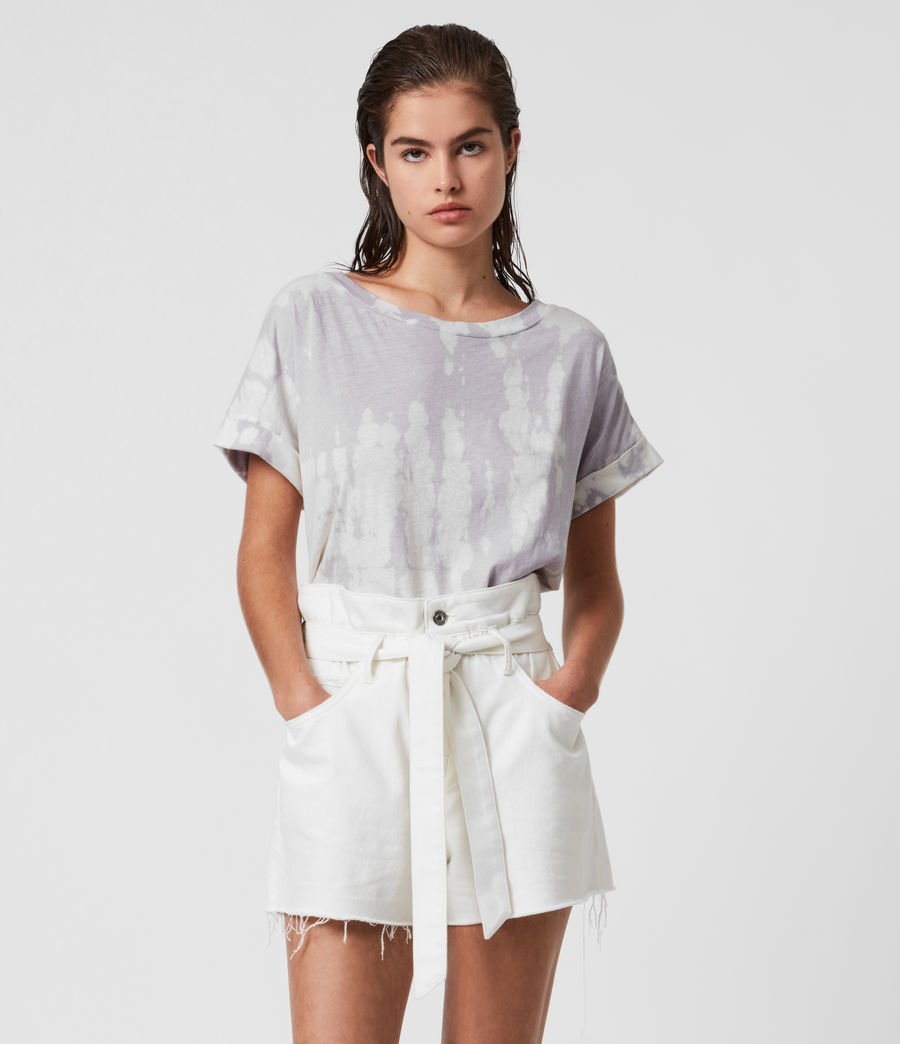 Mujer Tie Dye Imogen Boy T-Shirt (lavender) - Image 1
