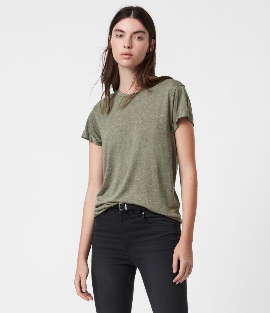 Women's Anna Shimmer T-Shirt (khaki_green) - Image 1