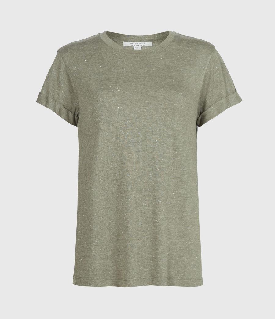 Women's Anna Shimmer T-Shirt (khaki_green) - Image 2