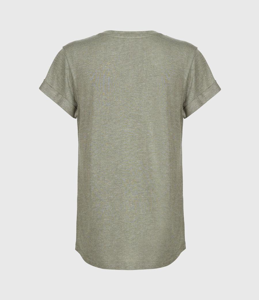 Women's Anna Shimmer T-Shirt (khaki_green) - Image 3