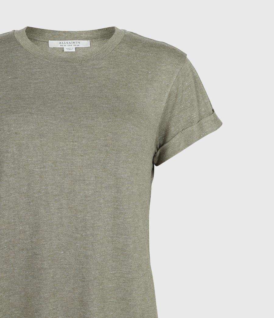 Women's Anna Shimmer T-Shirt (khaki_green) - Image 4