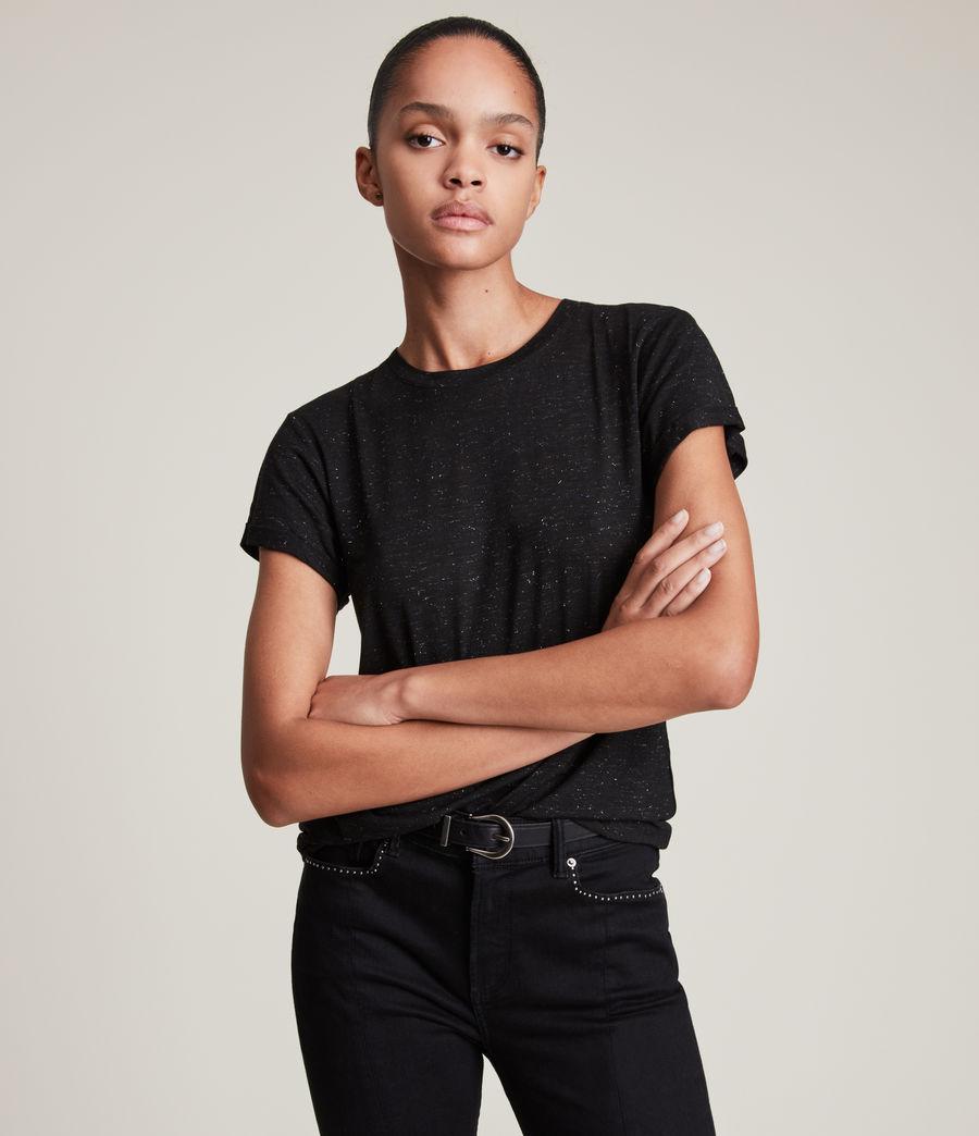 Womens Anna Shimmer T-Shirt (black) - Image 1