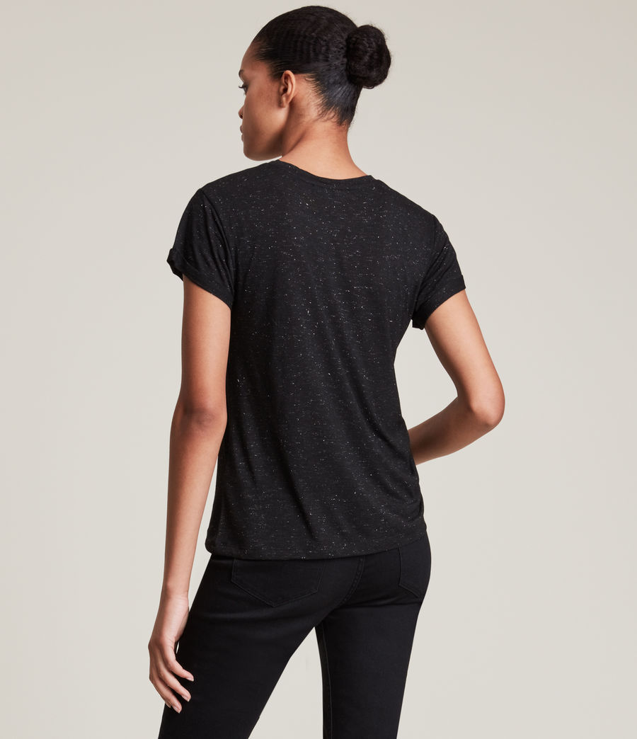 Womens Anna Shimmer T-Shirt (black) - Image 4