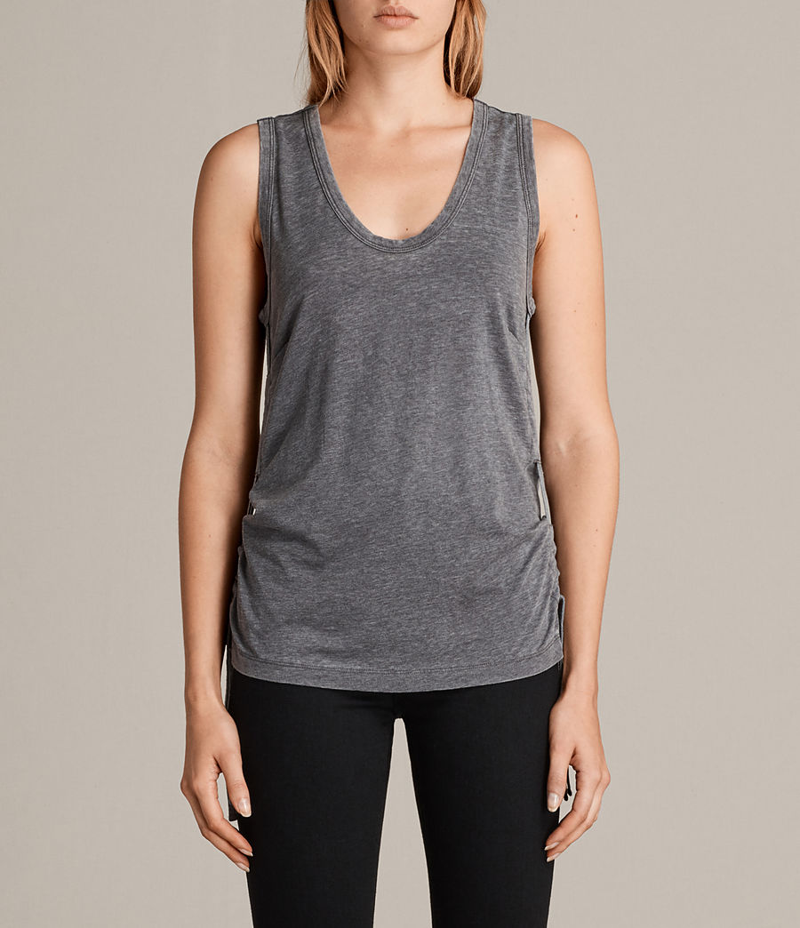 Mujer Camiseta Molly Devo (coal_grey) - Image 1
