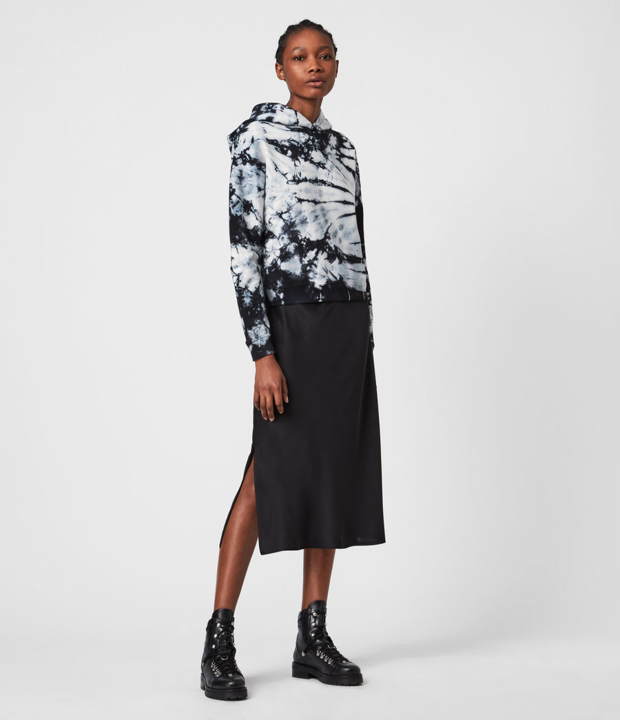 Womens Sasha Tie Dye Hoodie (chalk_white_black) - Image 1