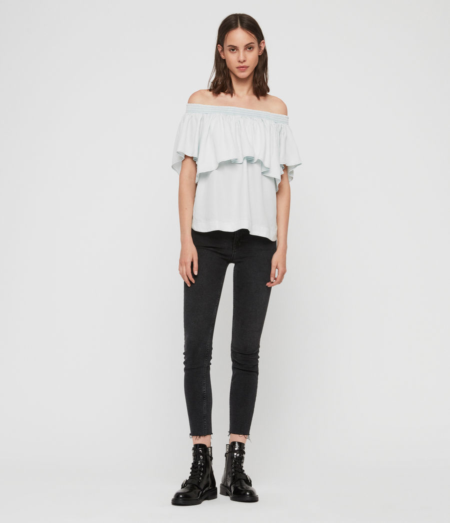 Women's Sacha Tencel Top (bleach_indigo_blue) - Image 1