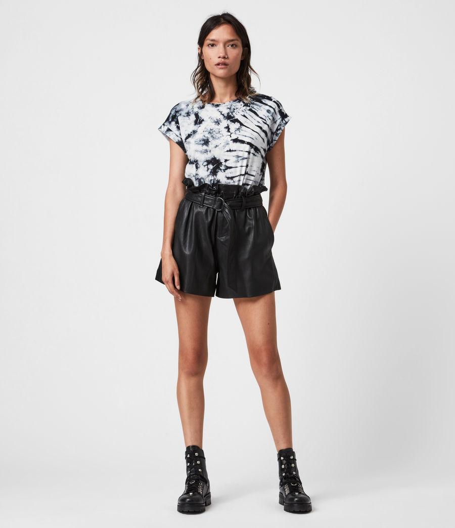 Women's Sasha Tie Dye T-Shirt (chalk_white_black) - Image 1