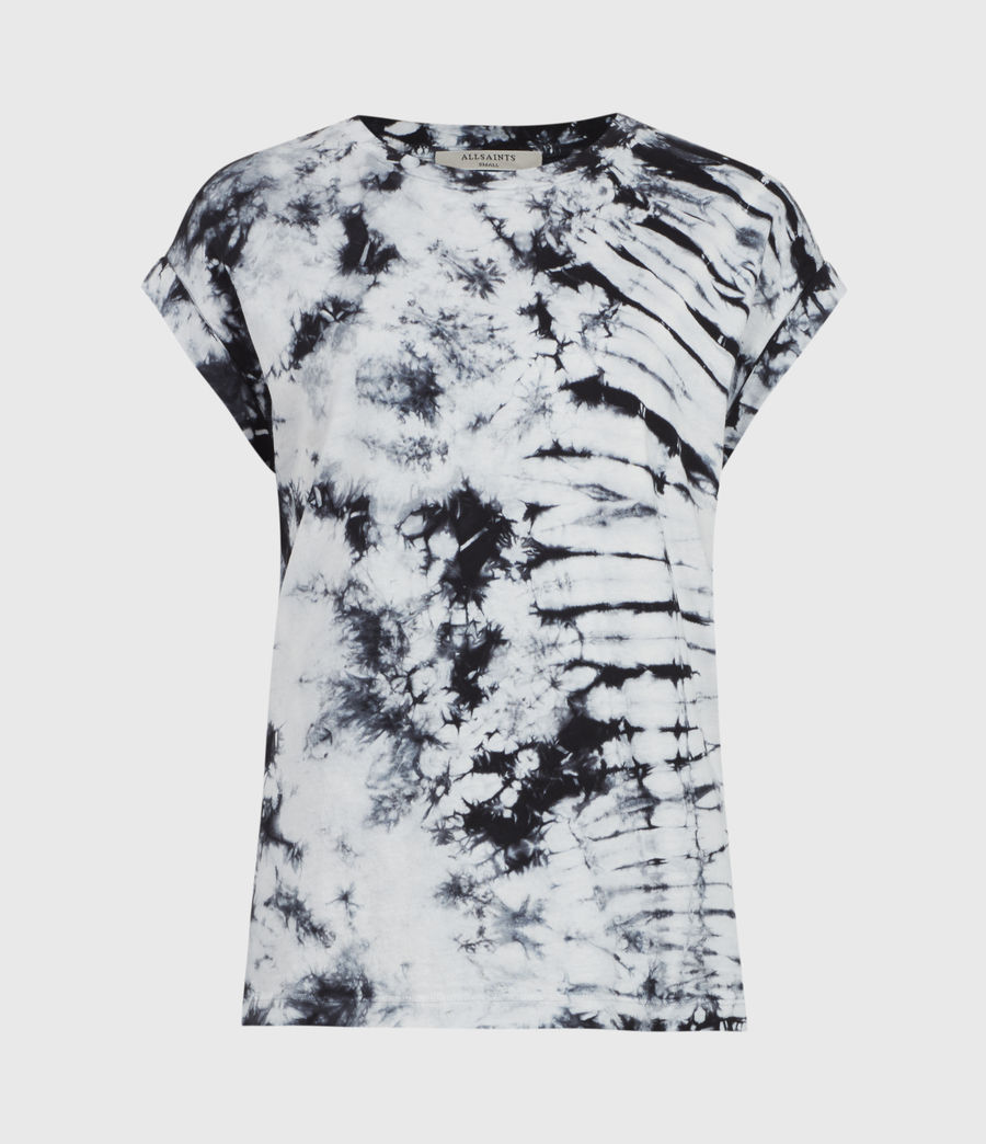 Womens Sasha Tie Dye T-Shirt (chalk_white_black) - Image 2