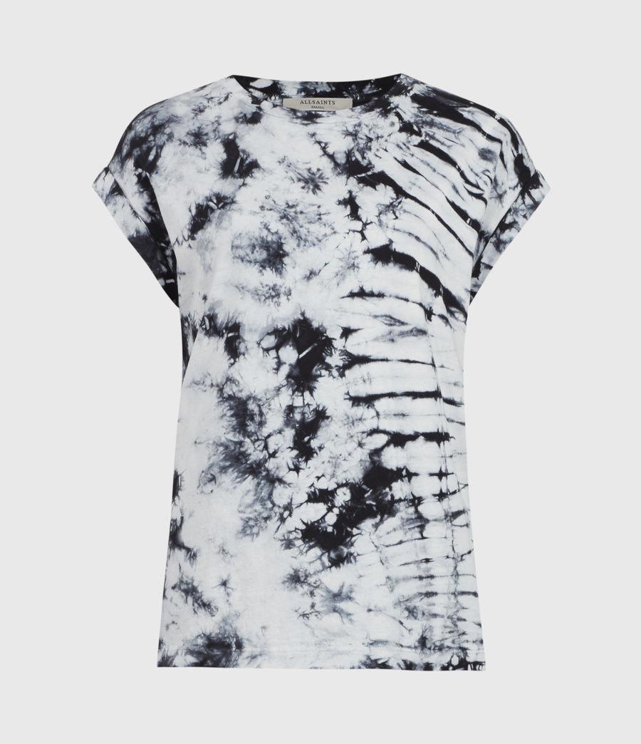 Women's Sasha Tie Dye T-Shirt (chalk_white_black) - Image 2