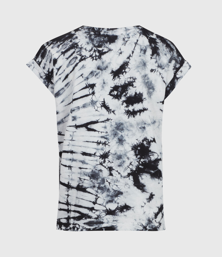 Womens Sasha Tie Dye T-Shirt (chalk_white_black) - Image 3