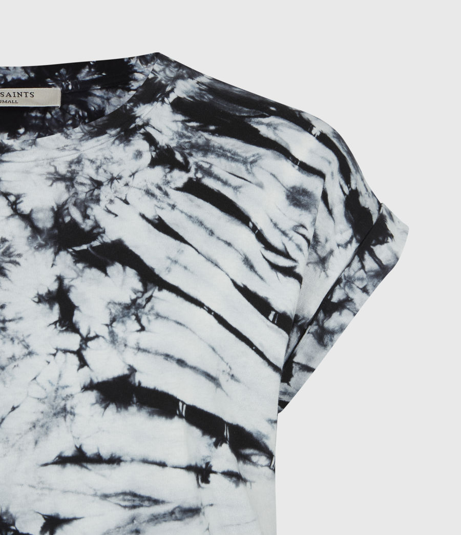 Womens Sasha Tie Dye T-Shirt (chalk_white_black) - Image 4