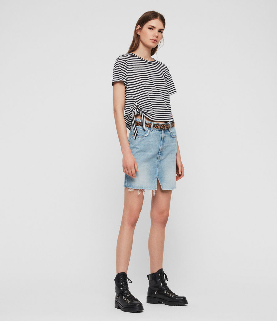 Women's Tujen Stripe T-Shirt (chalk_ink_blue) - Image 2