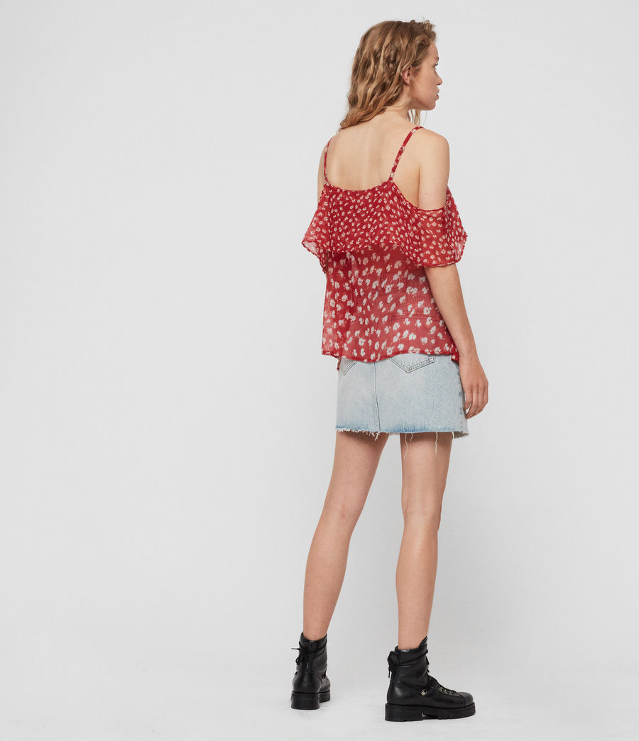 Womens Savine Scatter Top (red) - Image 5