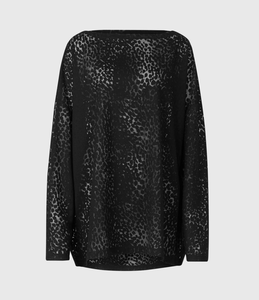 Womens Rita Leopard T-Shirt (black) - Image 2