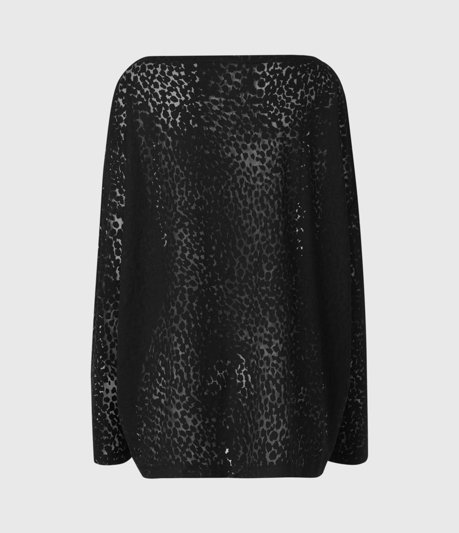 Womens Rita Leopard T-Shirt (black) - Image 3