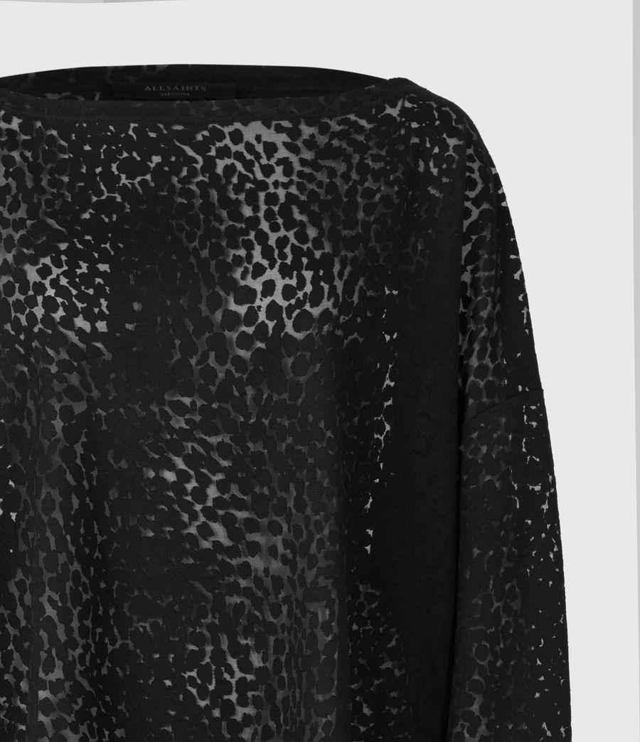 Womens Rita Leopard T-Shirt (black) - Image 4