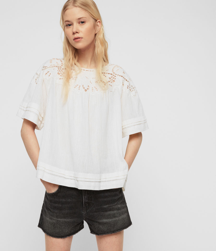 Women's Lise Top (chalk_white) - Image 1