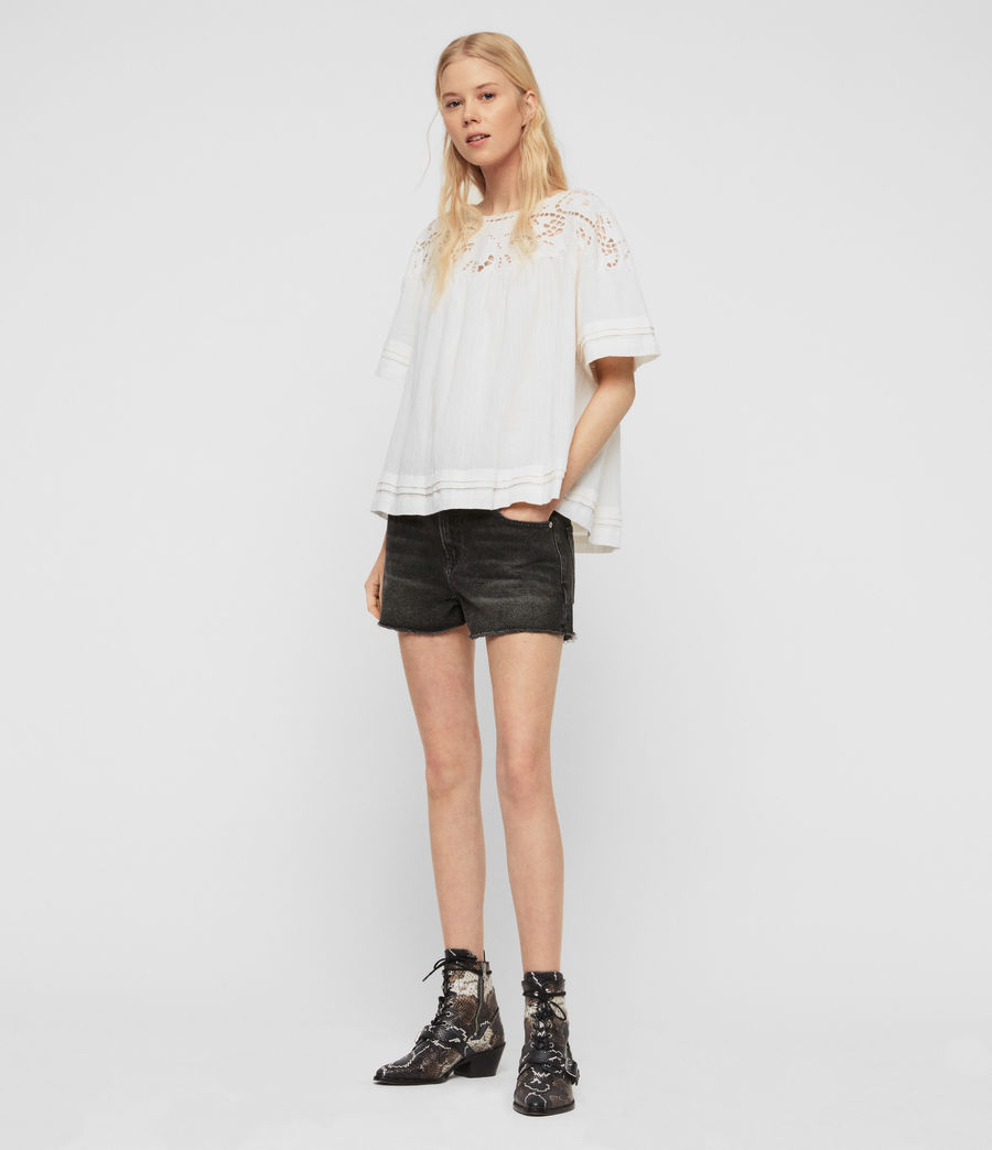 Women's Lise Top (chalk_white) - Image 2
