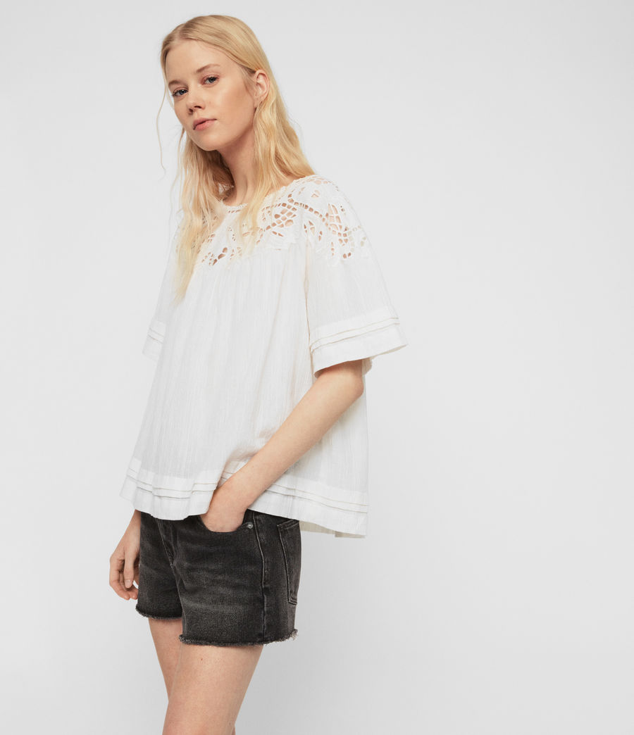 Women's Lise Top (chalk_white) - Image 4