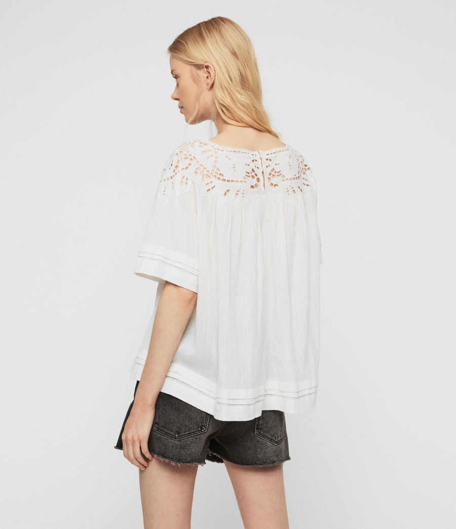 Women's Lise Top (chalk_white) - Image 5