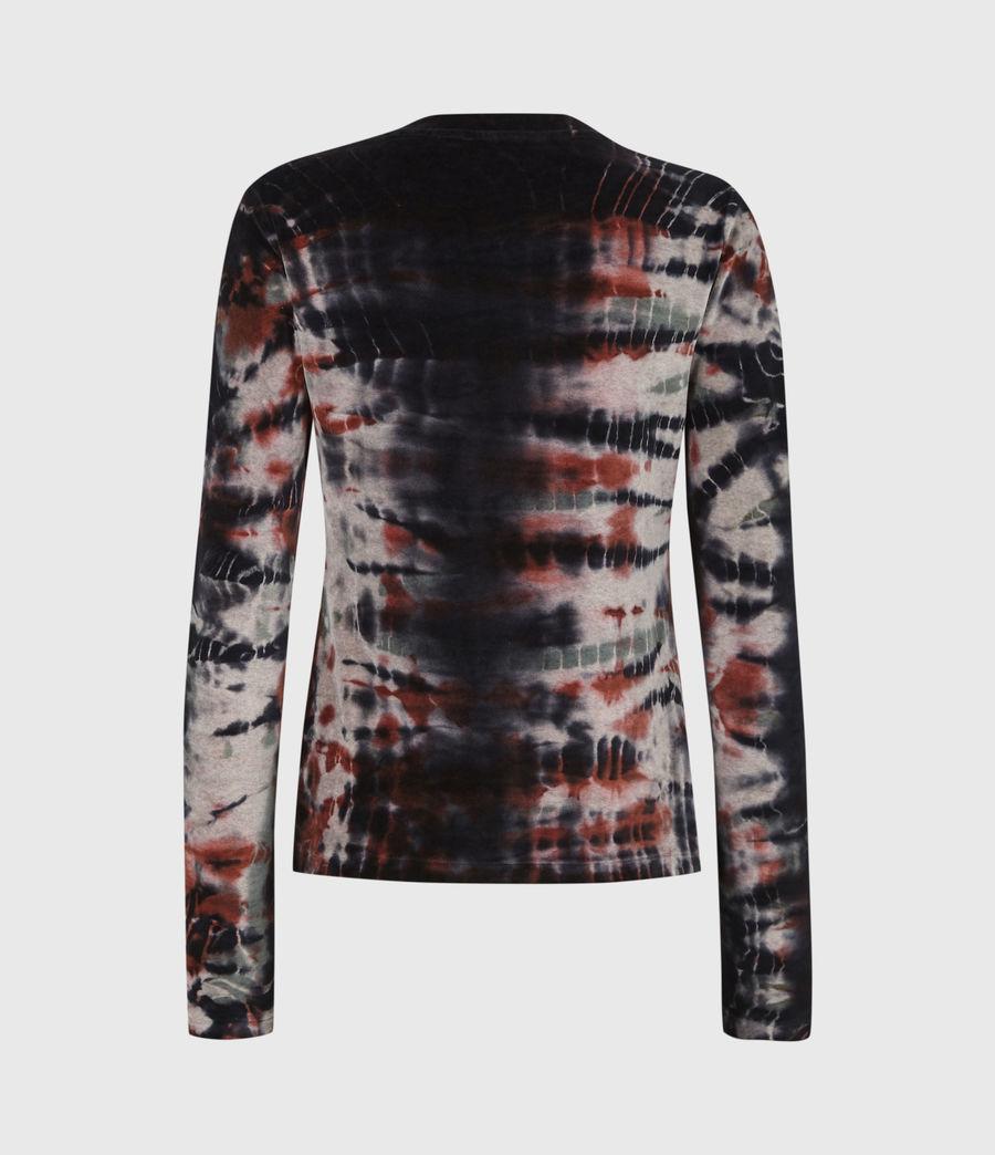 Womens Velvet Tie Dye T-Shirt (ink_blue_multi) - Image 3