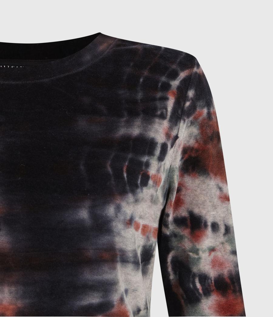 Womens Velvet Tie Dye T-Shirt (ink_blue_multi) - Image 5