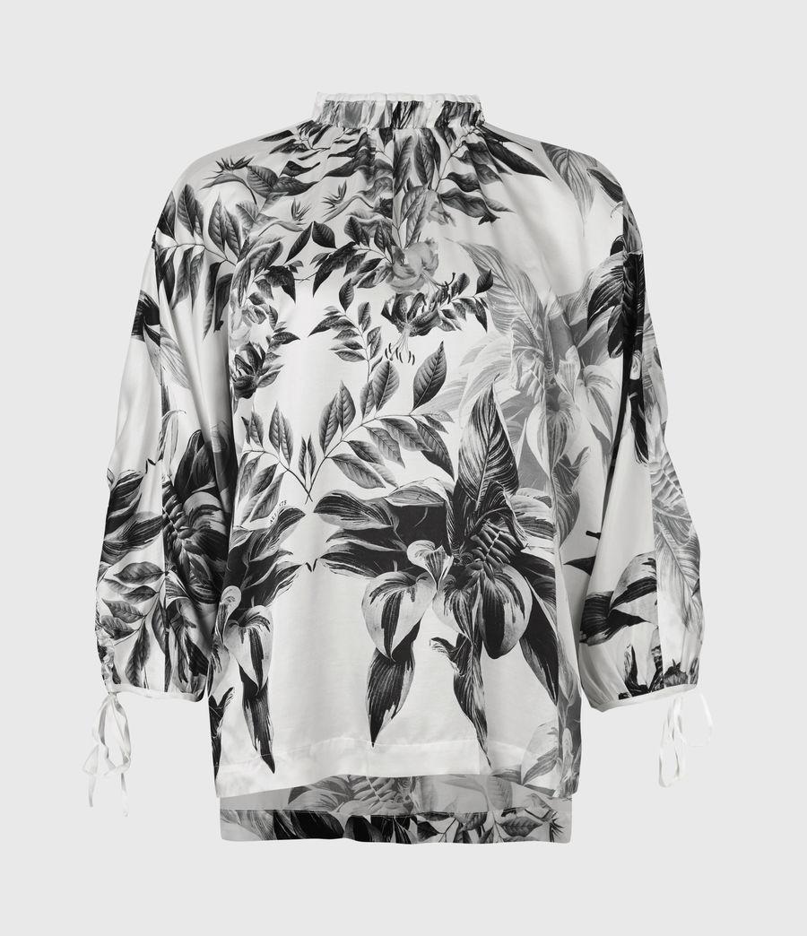 Femmes Rora Creation Silk Blend Top (white) - Image 2