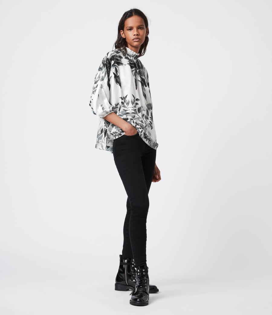 Femmes Rora Creation Silk Blend Top (white) - Image 4