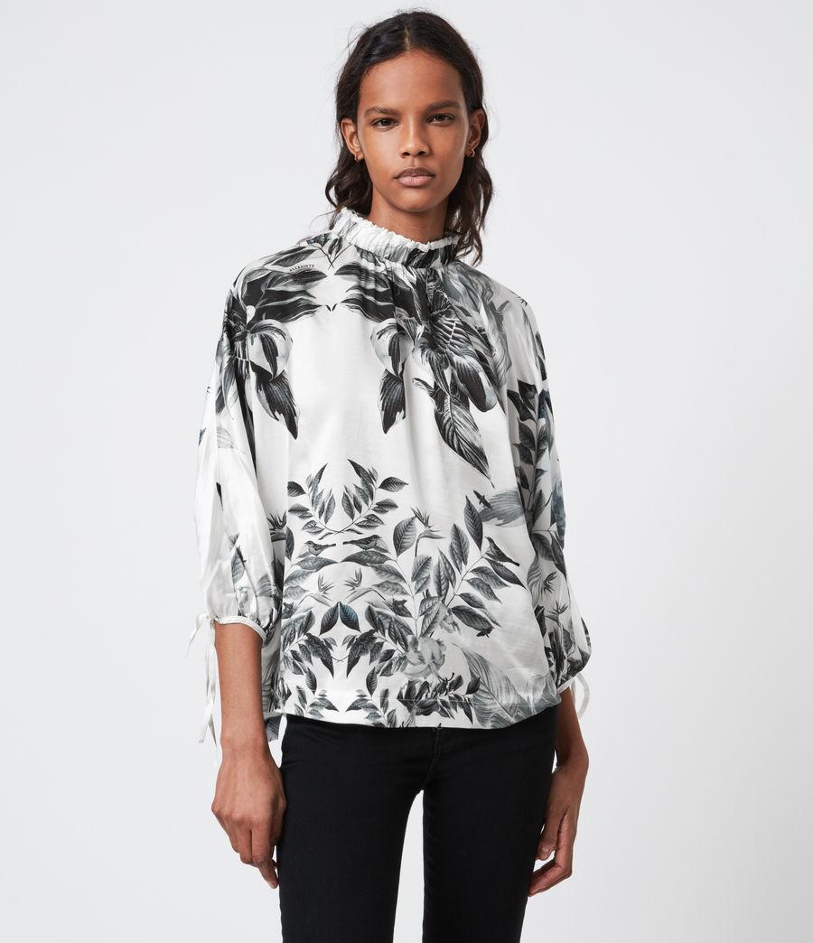 Femmes Rora Creation Silk Blend Top (white) - Image 6