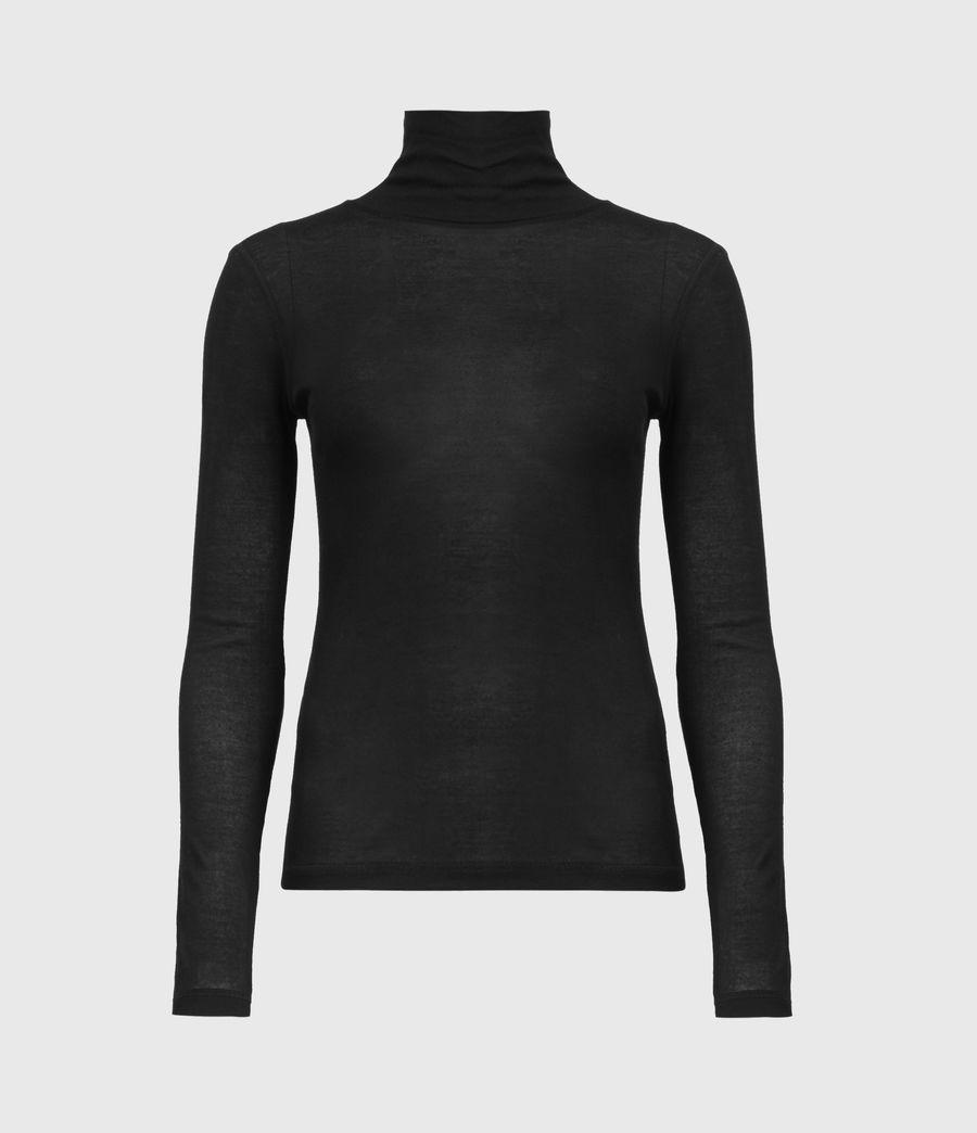 Womens Francesco Roll Neck Top (black) - Image 2