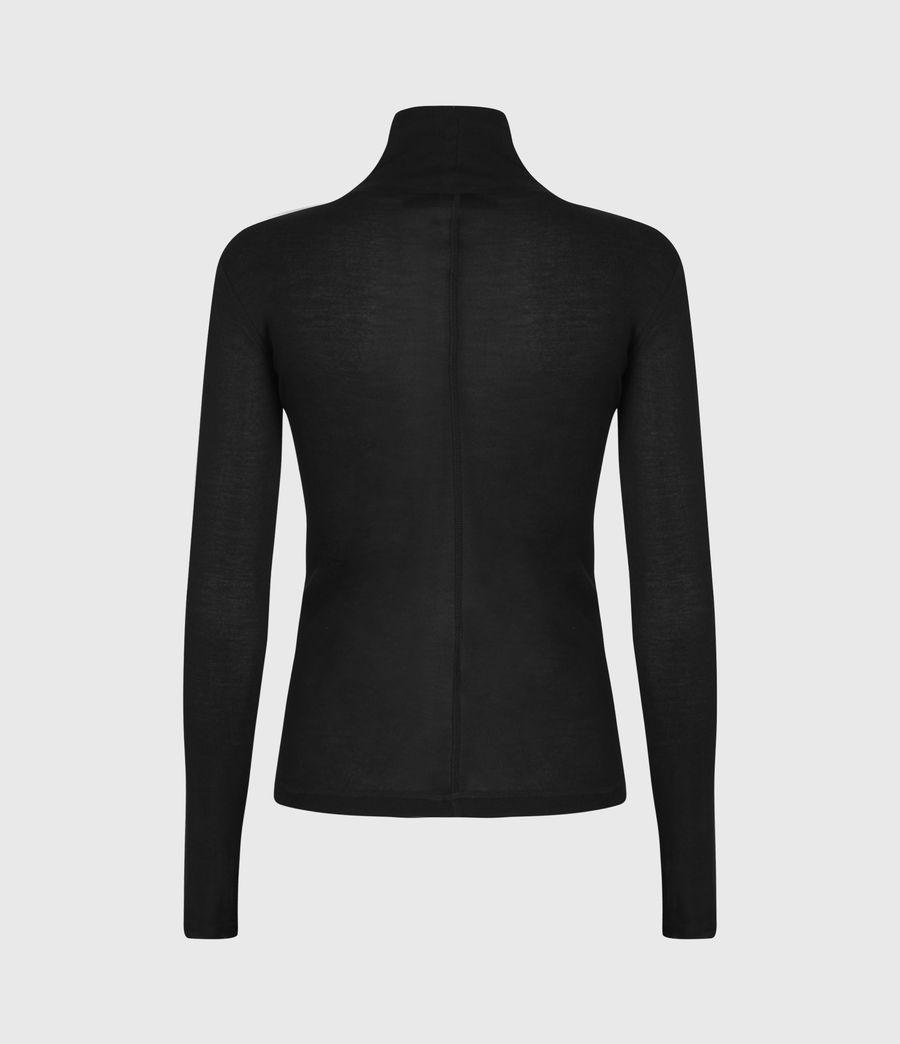 Womens Francesco Roll Neck Top (black) - Image 3