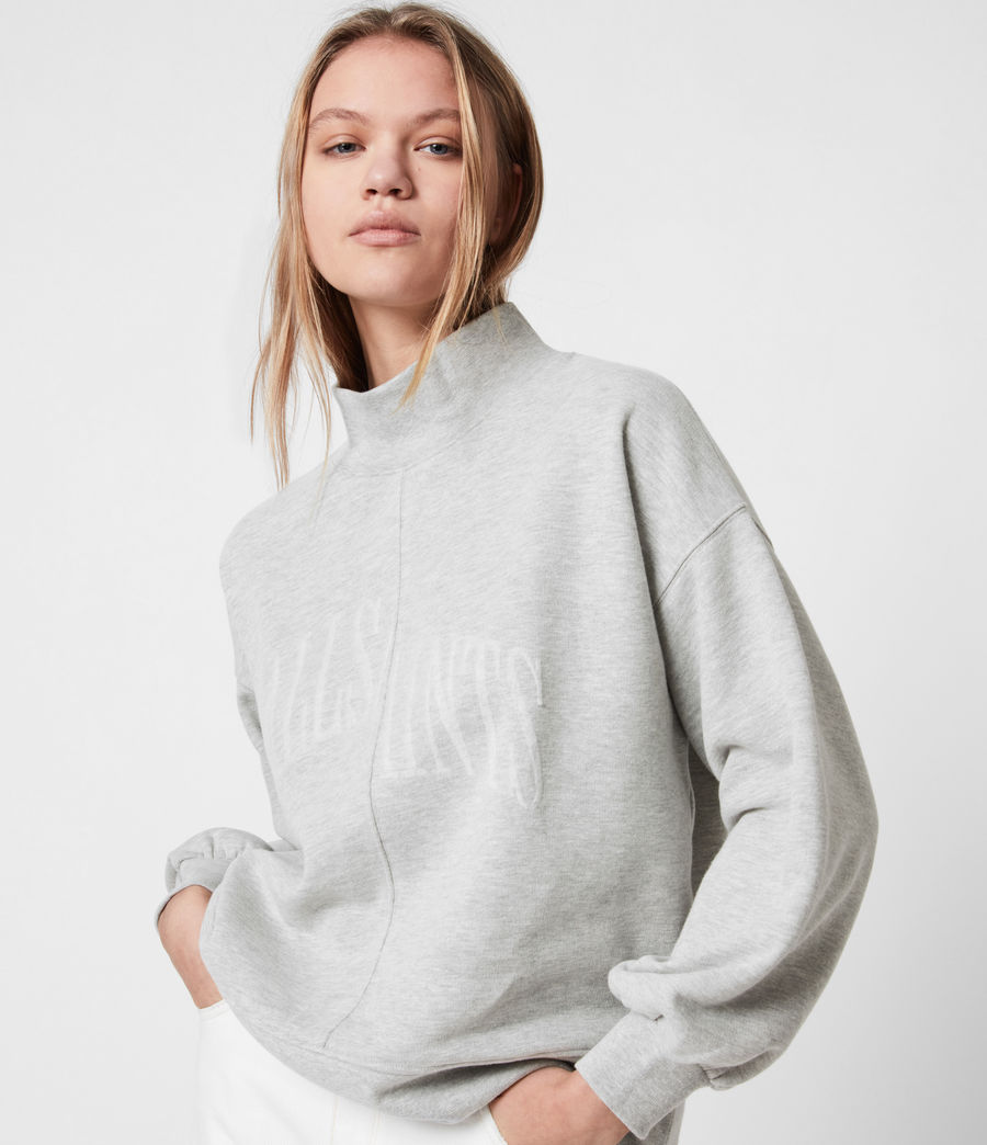 Women's Nevarra Split Saints Sweatshirt (grey_marl) - Image 4