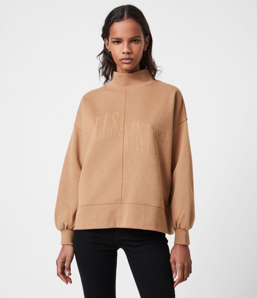 Women's Nevarra Split Saints Sweatshirt (desert_tan) - Image 1