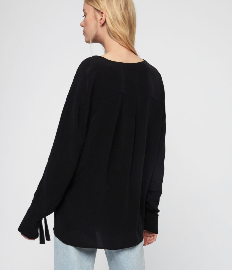 Women's Bailee Top (black) - Image 6
