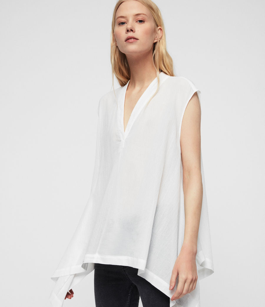Women's Avee Top (chalk_white) - Image 1
