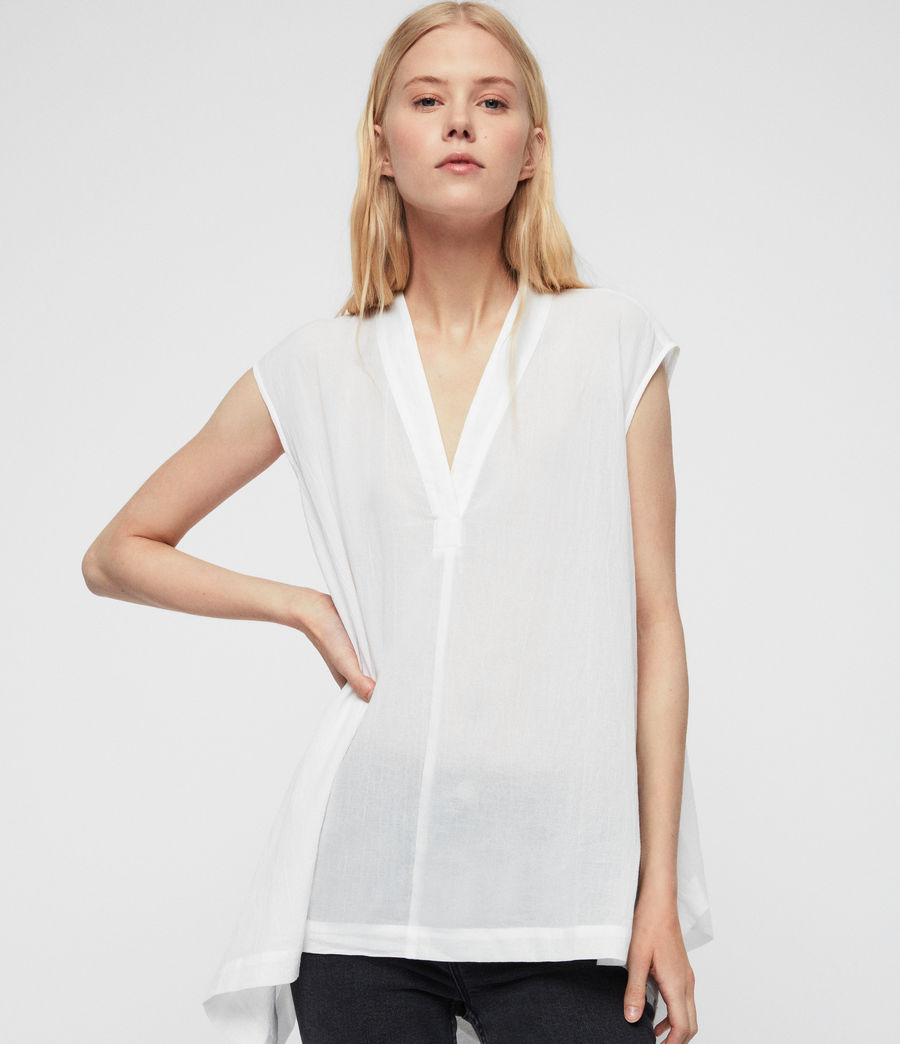 Women's Avee Top (chalk_white) - Image 4