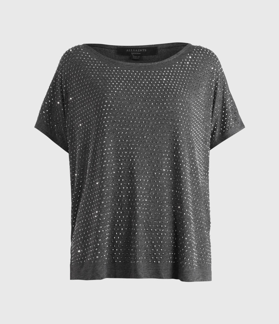 Womens Helene Sparkle T-Shirt (charcoal_grey) - Image 2
