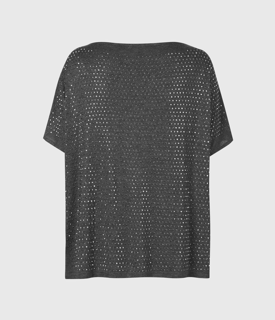 Womens Helene Sparkle T-Shirt (charcoal_grey) - Image 3