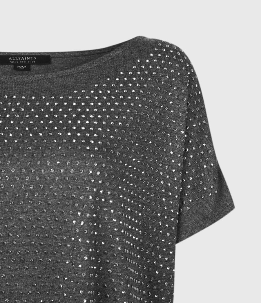 Womens Helene Sparkle T-Shirt (charcoal_grey) - Image 4