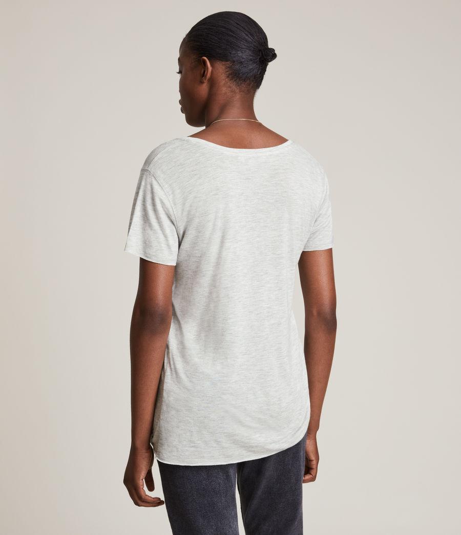 Women's Emelyn Shimmer T-Shirt (grey_marl) - Image 4