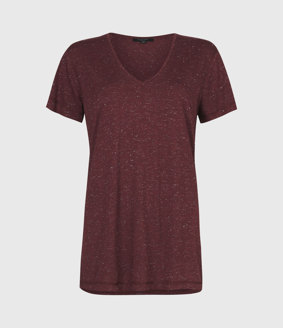 Womens Emelyn Shimmer T-Shirt (port_royale) - Image 2