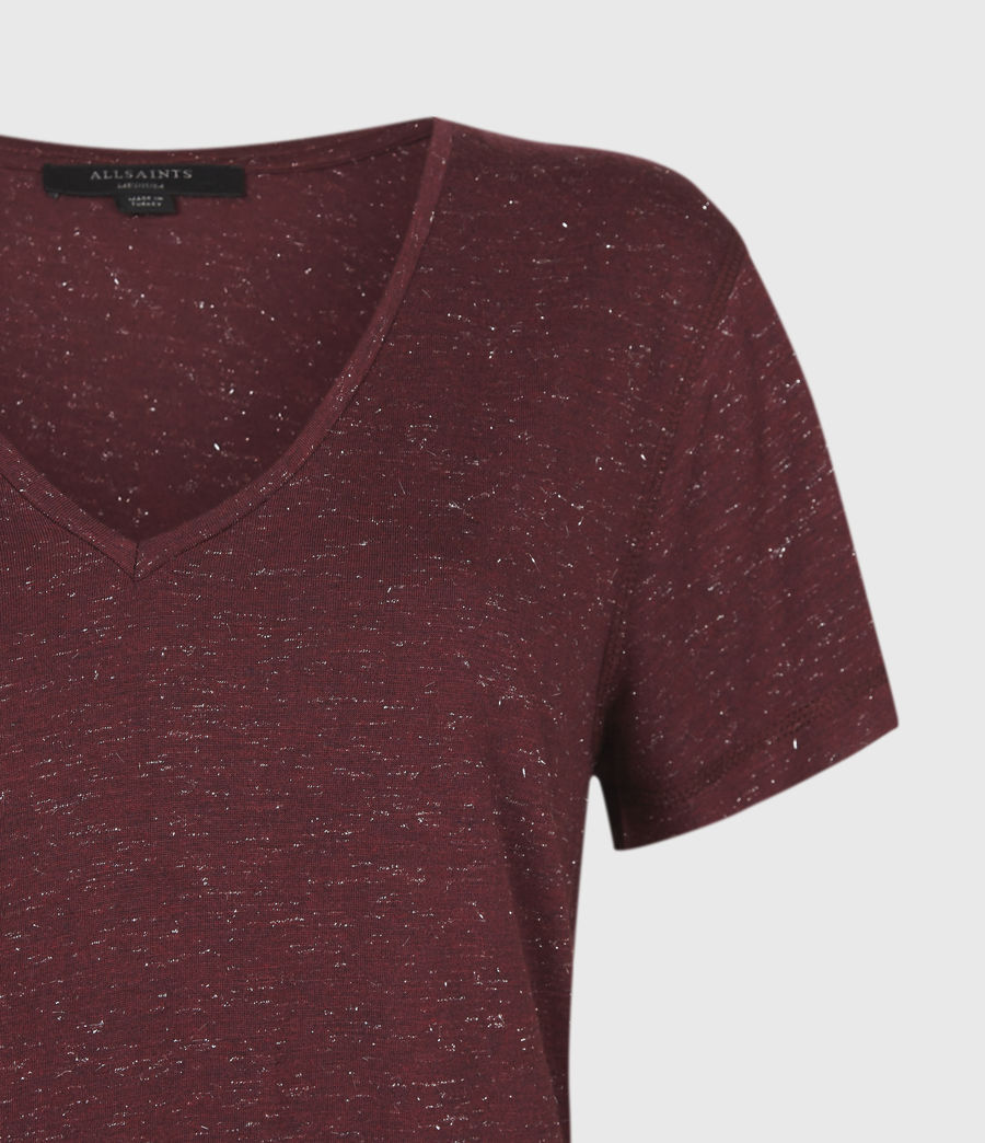 Womens Emelyn Shimmer T-Shirt (port_royale) - Image 5