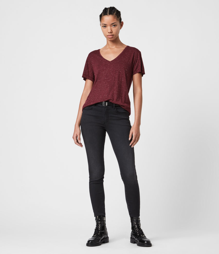 Womens Emelyn Shimmer T-Shirt (port_royale) - Image 6