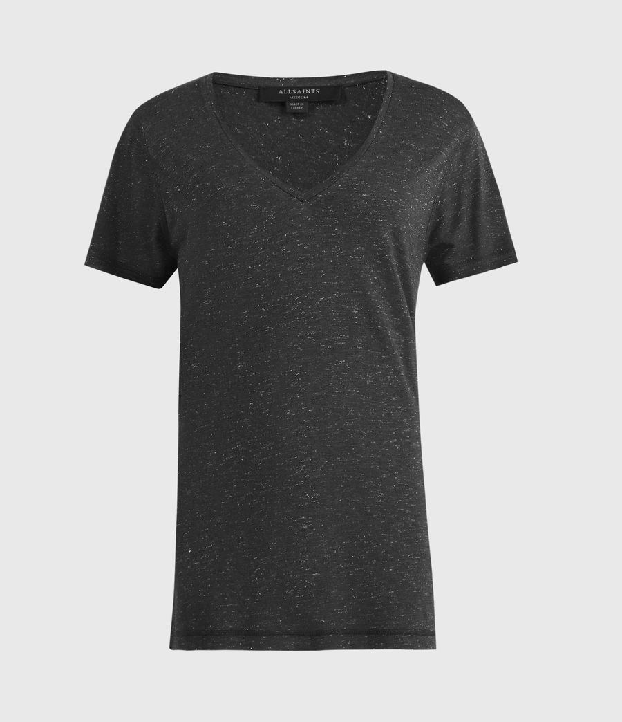 Womens Emelyn Shimmer T-Shirt (charcoal_grey) - Image 2